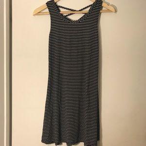 Strip summer dress